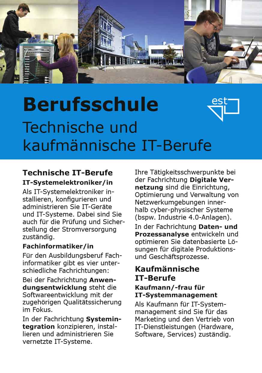 Infoflyer IT-Berufe